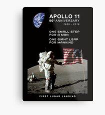 Apollo 11-50. Jahrestag 1969-2019, Mondlandung, Moon.Space Metallbild