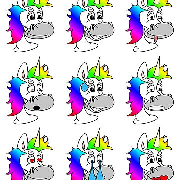 Unicorn Emoticon Emoji by PMPTV