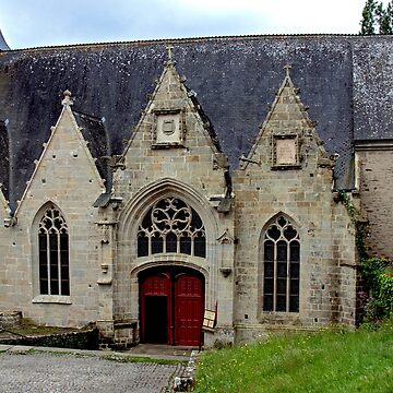 Church Rochefort en Terre, Morbihan, Brittany, France by Buckwhite