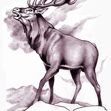 Red Stag Challenge Sepia by junglequeen
