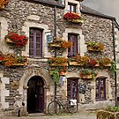 Old Flowered Building Rochefort en Terre, Morbihan, Brittany, France by Buckwhite