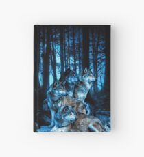 Wolf Pack with Amber Eyes Hardcover Journal