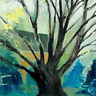 oil sketch of a suburban maple tree but I call it Worldly Tutor by moonweasel