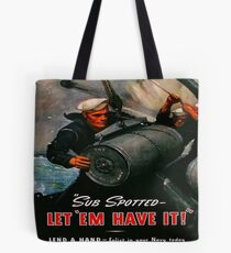 Vintage WWII Navy Poster Tote Bag
