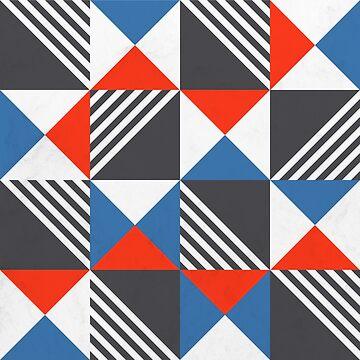 Geometric Triangle Lines Pattern by tobiasfonseca