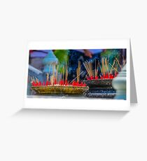 Smokey Incense Greeting Card