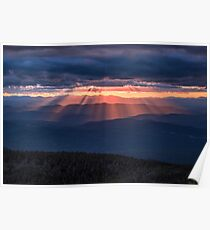 Sunset on Franconia Ridge, New Hampshire. Poster