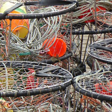 CRAB POTS by elainebawden