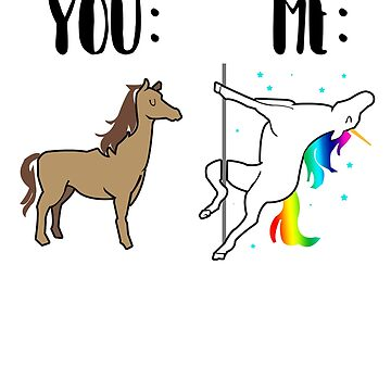 'Horse You Unicorn Me' Lovely Horse LGBT Gift by leyogi