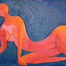 Abstract Orange Nude by TeAnne