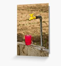 Red Cup Yellow Tap Greeting Card