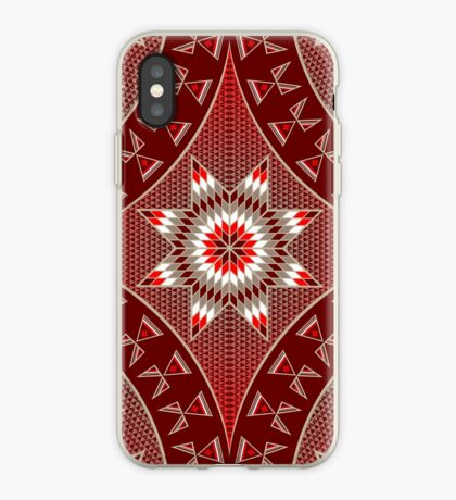Morning Star with Tipi's (Red) iPhone Case