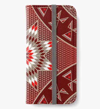 Morning Star with Tipi's (Red) iPhone Wallet