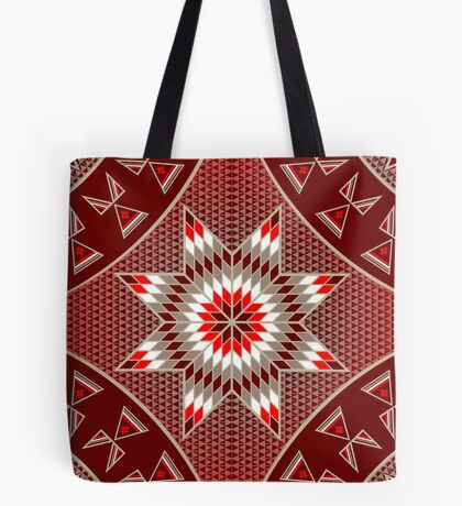 Morning Star with Tipi's (Red) Tote Bag