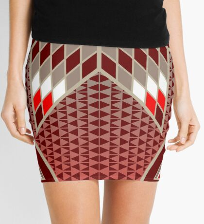 Morning Star with Tipi's (Red) Mini Skirt