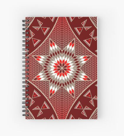 Morning Star with Tipi's (Red) Spiral Notebook