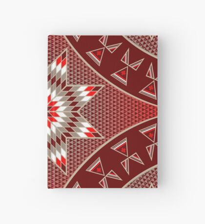 Morning Star with Tipi's (Red) Hardcover Journal