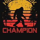 Bigfoot Hide and Seek Champion Distressed Graphic by cottonklub