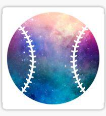 Galaxy Softball Purple Blue Nebula Sticker
