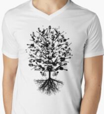 Musical Instruments Tree Men's V-Neck T-Shirt
