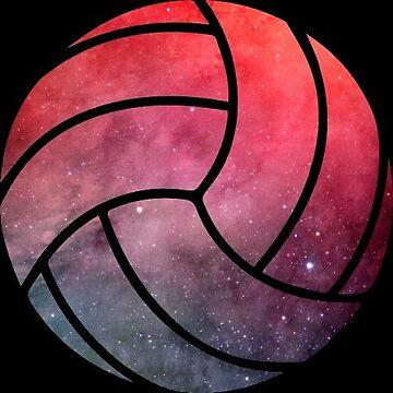 Galaxy Volleyball Pink Purple Nebula by Distrill