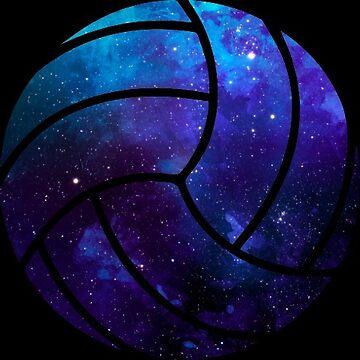 Galaxy Volleyball Blue Purple Nebula by Distrill