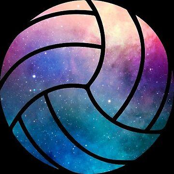 Galaxy Volleyball Purple Blue Nebula by Distrill