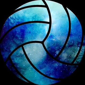 Galaxy Volleyball Light Blue Nebula by Distrill