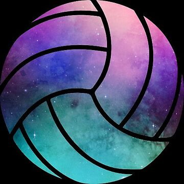 Galaxy Volleyball Purple Teal Nebula by Distrill