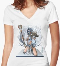 The Game of Kings, Wave Two: The White King's Bishop Women's Fitted V-Neck T-Shirt