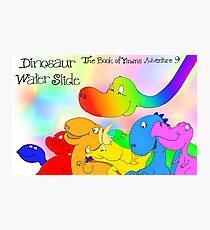 Dinosaur Water Slide, The Book of Yawns, Adventure 9, friends Photographic Print
