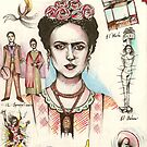 A Lust For Life: The World Of Frida Kahlo ( 1907-53 ) by John Dicandia ( JinnDoW )