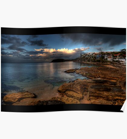 Shelley Beach Sunset Poster