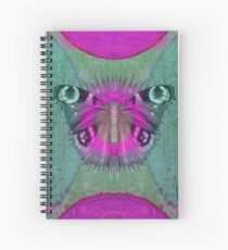 Mystic Wings - Purple and Green Spiral Notebook