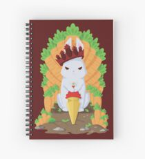Cute Angry Bunny King Spiral Notebook