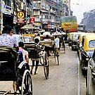 Peak hour, Calcutta 1980 by John Spies