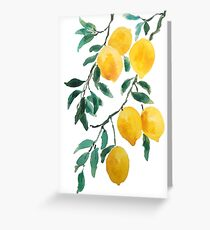yellow lemon 2018 Greeting Card