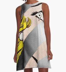 Roy Lichtenstein's Crying Girl & Grace Kelly A-Line Dress