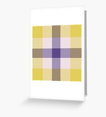 Custom medium purple Tartan design Greeting Card