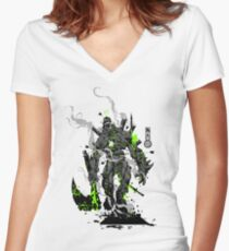 The Game of Kings, Wave Two: The Black King-Bishop's Pawn Women's Fitted V-Neck T-Shirt