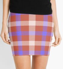 Custom misty rose Tartan design Mini Skirt