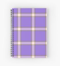 Custom misty rose Tartan design Spiral Notebook