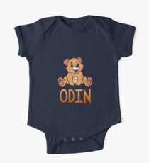 Odin Bear Mug Short Sleeve Baby One-Piece