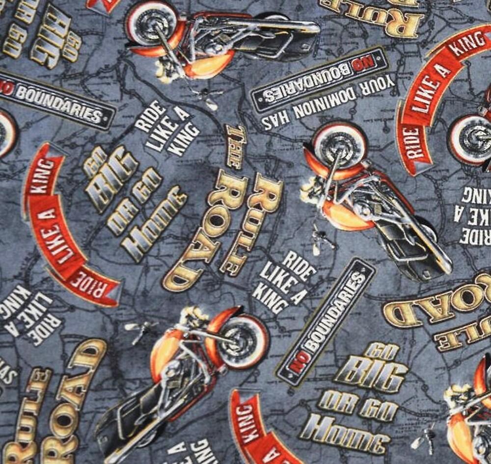 Collage Digital Art Illustration, Biker Themed Design by Melody Koert