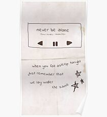 Never Be Alone Shawn Mendes Poster