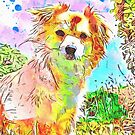 Watercolor dog by BlackDevil