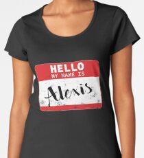 Hello My Name Is Alexis Name Tag Women's Premium T-Shirt