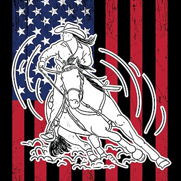 Barrel Racing USA Flag Design by kudostees
