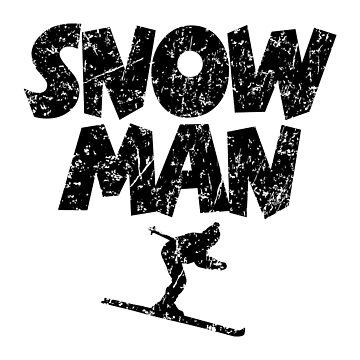 Snowman Ski Skier Skiing by theshirtshops