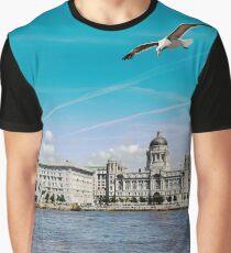 Liverpools Three Graces Graphic T-Shirt